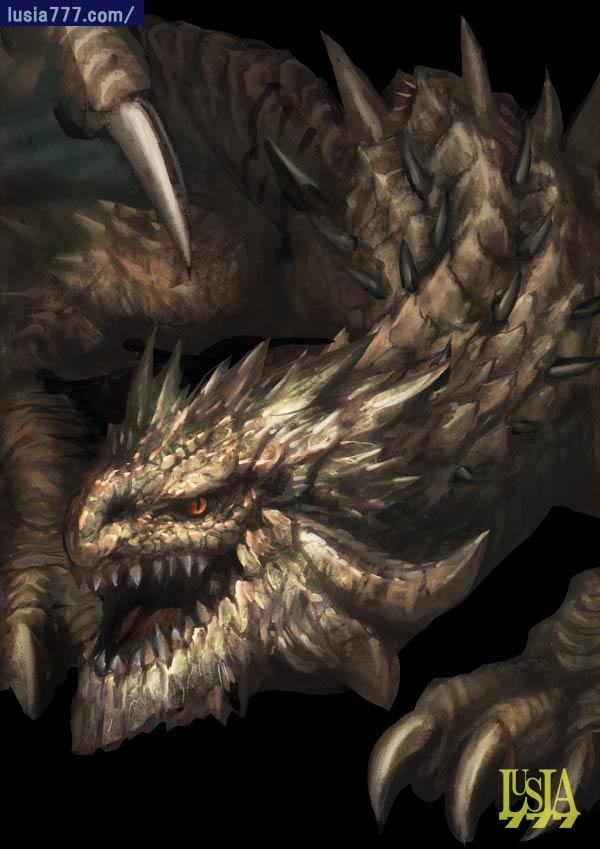 ワンドロ・ランドドラゴン/ドラゴンイラスト