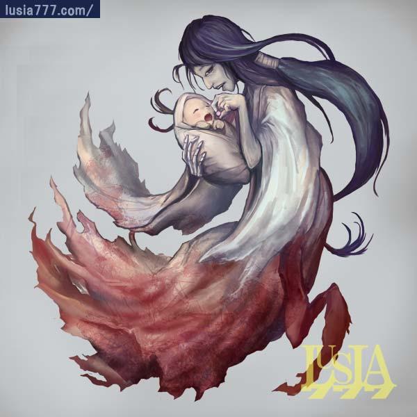 妖怪イラスト・産女の幽霊