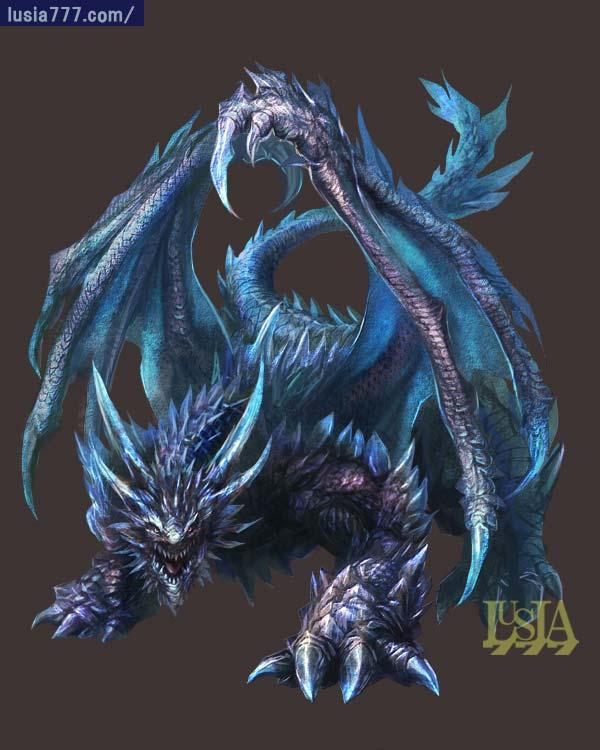 かっこいいドラゴンのイラスト