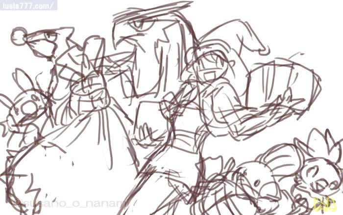 ポケモンの描き方 クリスマス・イラストメイキングその1