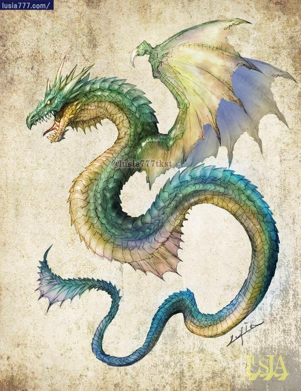 ワイバーンやドラゴンの仲間かアンピプテラのイラスト