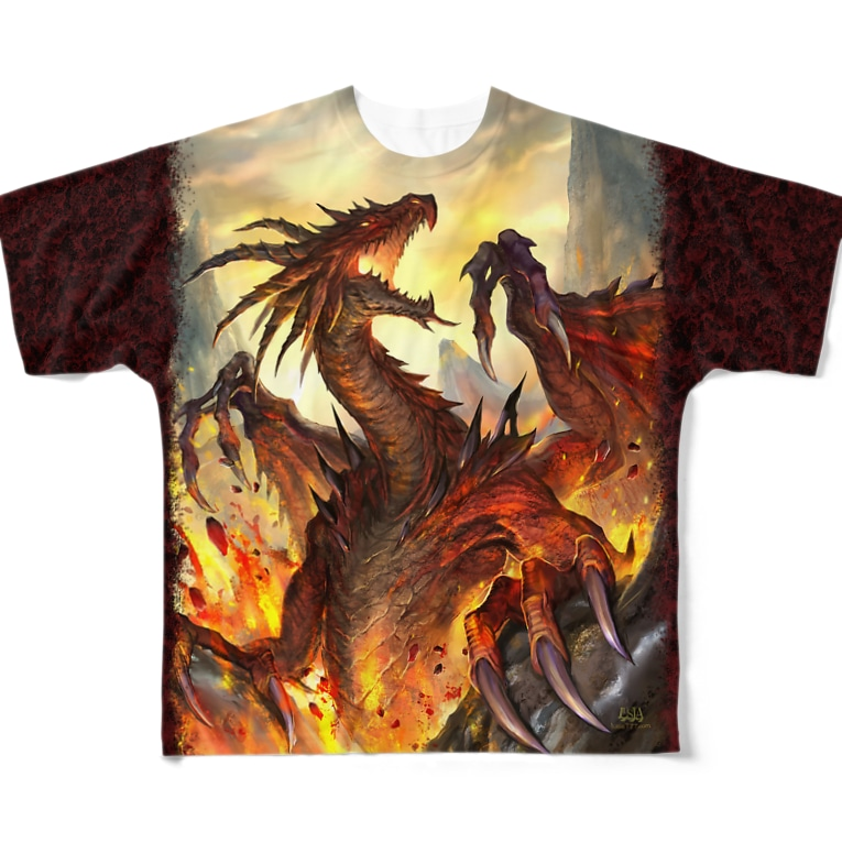かっこいいドラゴンのイラストのTシャツ